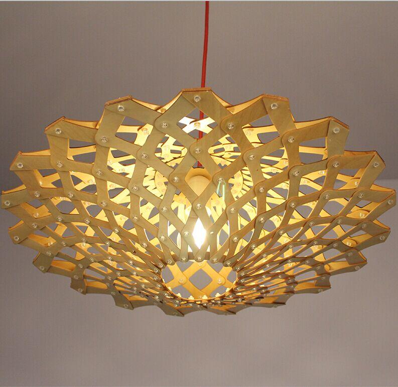 Đèn thả gỗ DTH2002