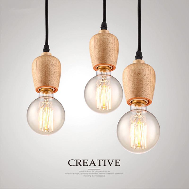 Đèn thả gỗ DTH2012