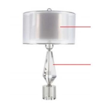 Đèn bàn thủy tinh DBAN4014