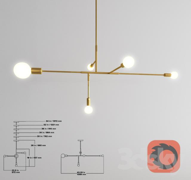 Đèn chùm sắt DCHUM0056