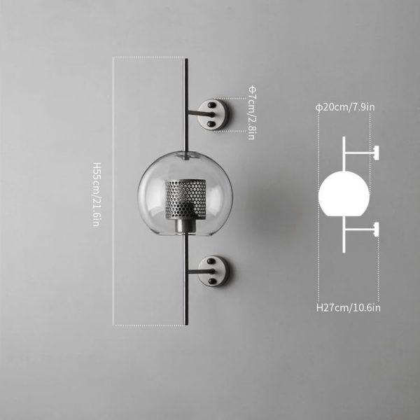 Đèn tường thủy tinh DTG5079
